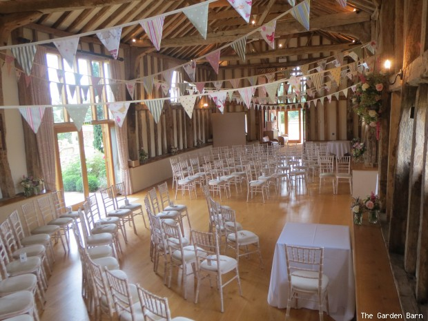 The Barn Has Been Set Up For A Civil Ceremony